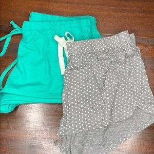 Two pair sleeping shorts Aerie Gray & Xhilration S